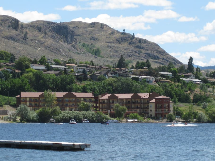 Building Complex, as viewed from Osoyoos Lake.