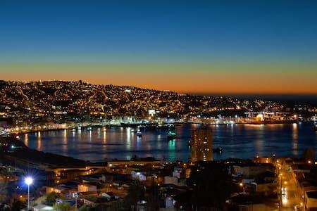 Valparaiso, cerro Baron, foto real desde mi balcón - Valparaíso - Lejlighed