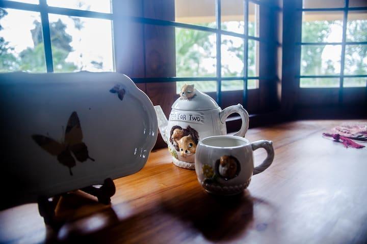 Tea for Three at Ashraya, Coorg