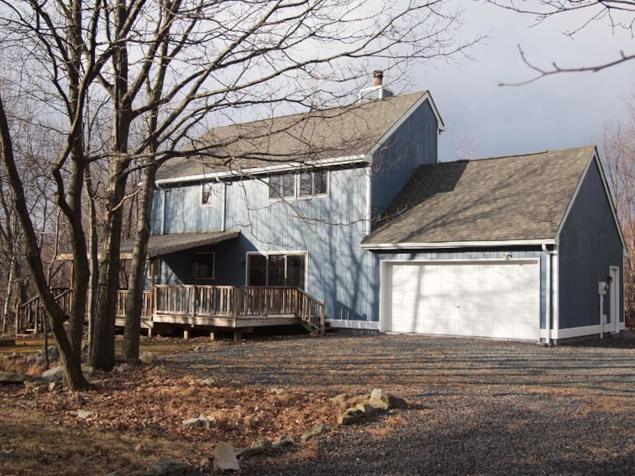 The back view of the house