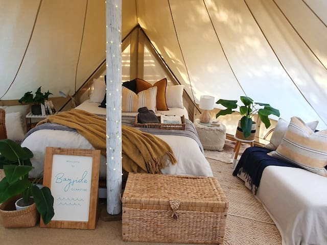 Bayside Glamping's Tent
