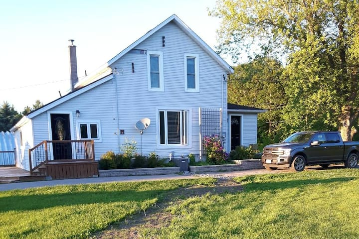 Original 1860 farmhouse with 2 additions and a wrap around deck on 2 sides for early morning sun and sunsets to the west