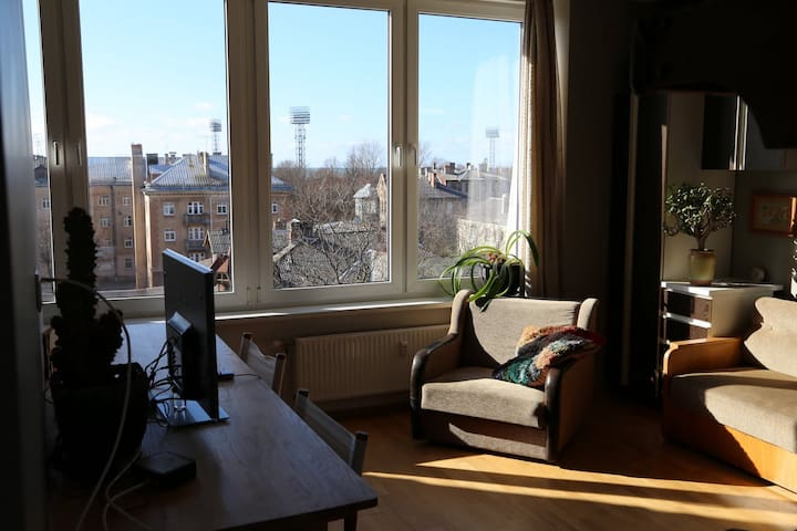 Artistic studio with a terrace - Liepaja - Apartment