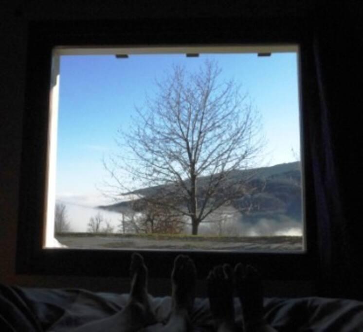 La vista dal letto.