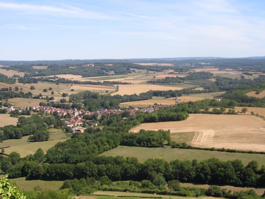 Sur la route de Vézelay