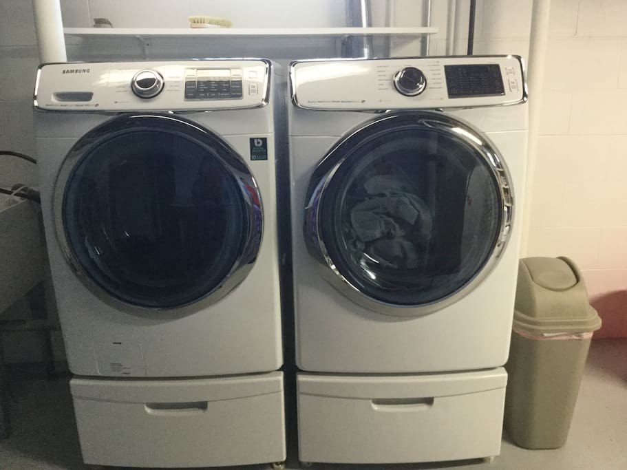 Washer and dryer in the basement