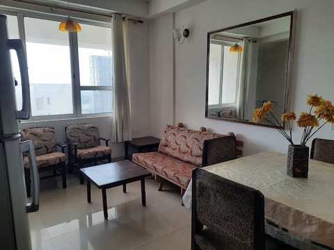 Airy, fully equipped and furnished 1 BHK