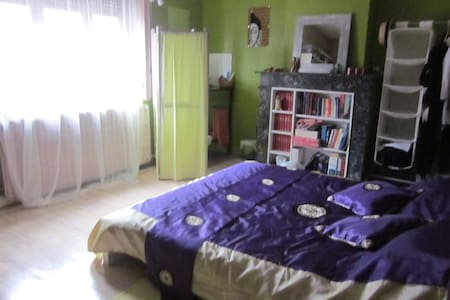 Double bed in private bedroom - Ronchin