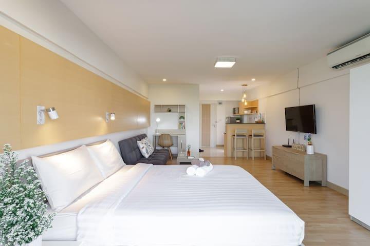 Bright & Comfy 1 BR in Nimman area 宁曼路公寓性价比高-中文房东