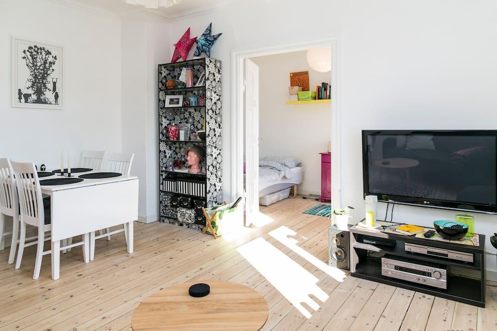 Living room + sneak peak to your room