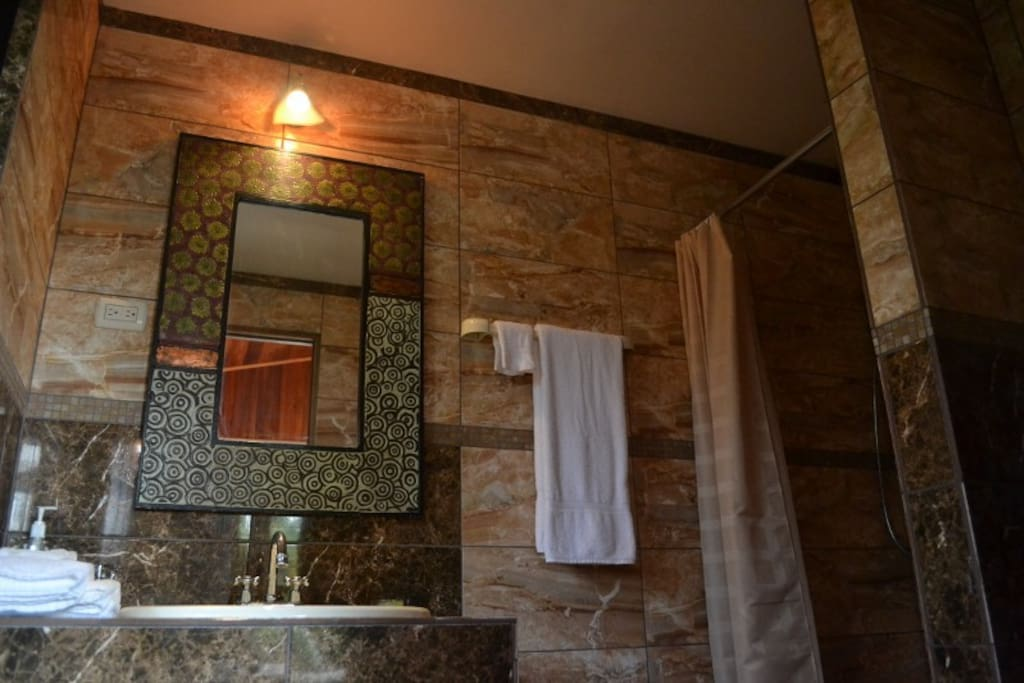 Luxury solar hot water shower ensuites