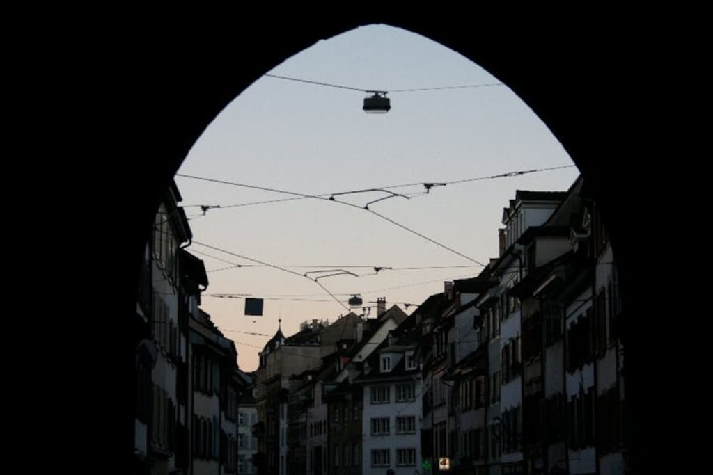 View of street from the Spalentor gate