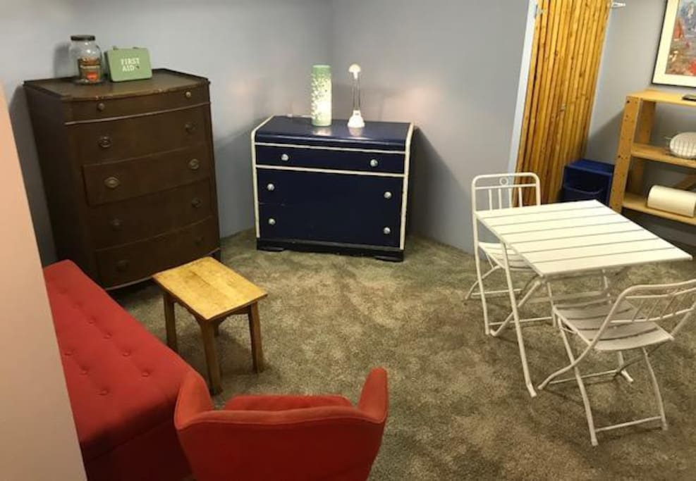 Your living space and kitchenette