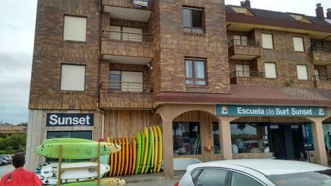 Apartment En Somo on the beach.