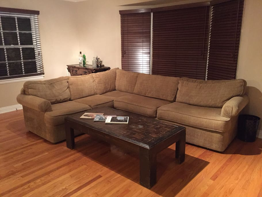 Living Room - Large Sectional Couch