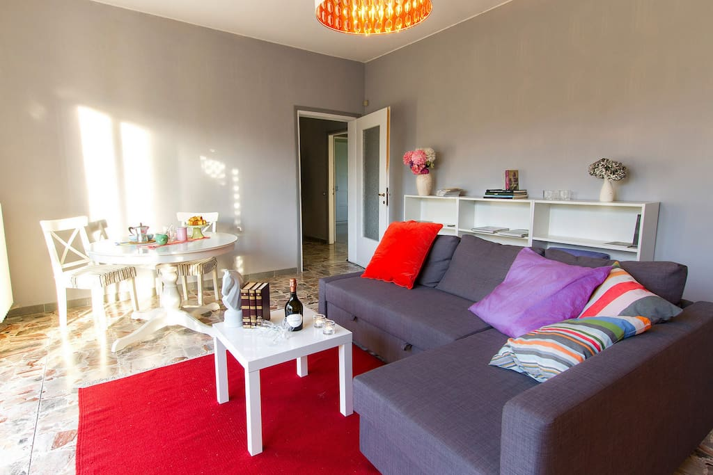 Living room with sleeping sofa double
