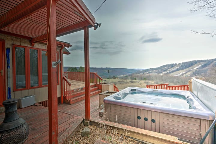 NEW! Home w/Hot Tub & Views, 2 Min to Swain Resort