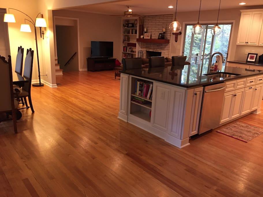 Open and spacious floor plan
