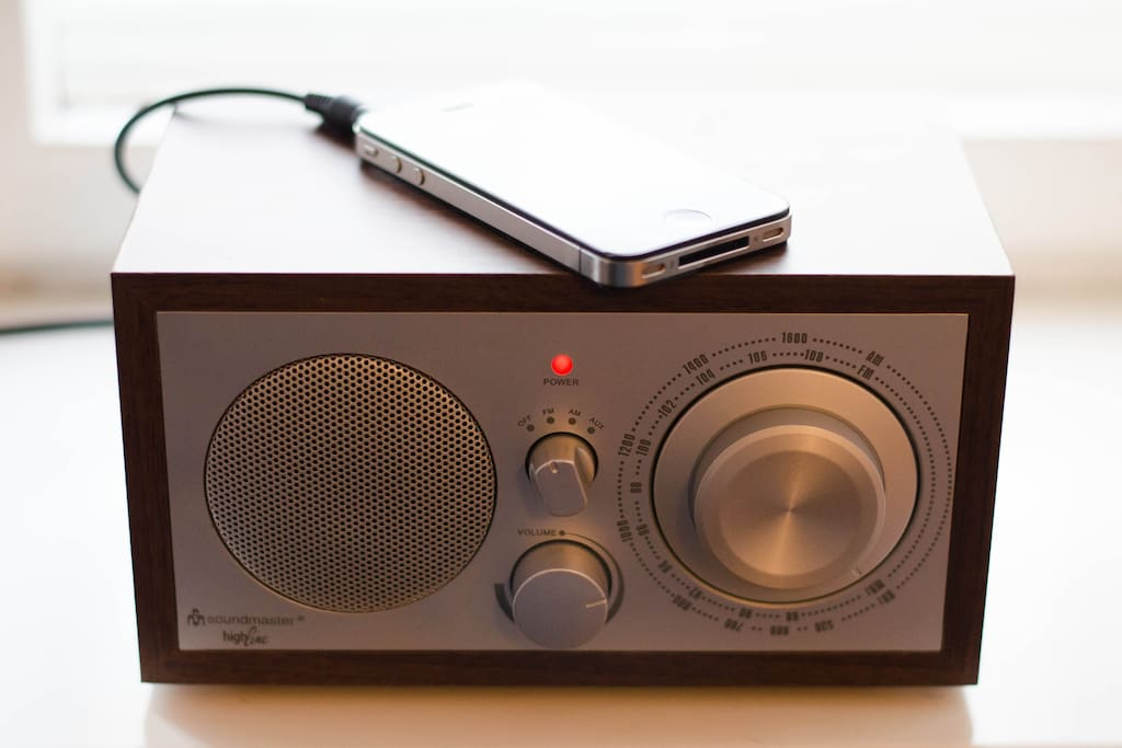 Listen to radio or your own Mp3s, iPhone not included ;)