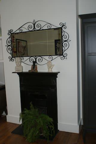Victorian fireplace in bedroom