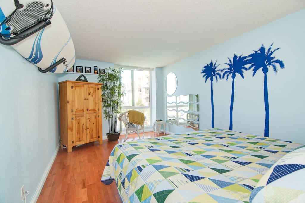 Beautifully decorated master Bedroom with whitewater views throughout.