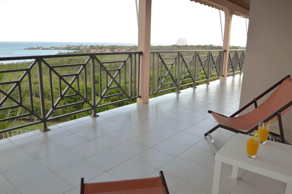 La terrasse...