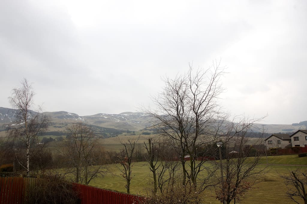 View from house of pentland hills