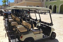 Golf carts available for 50 USD daily. Jeep rental available