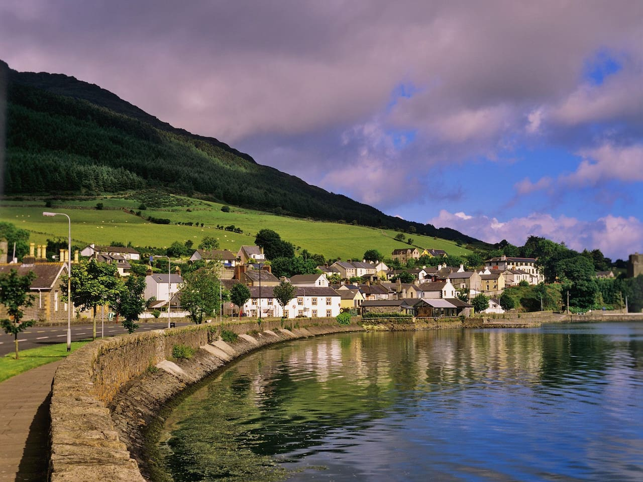 Medieval village of Carlingford with Slieve Foy as a backdrop