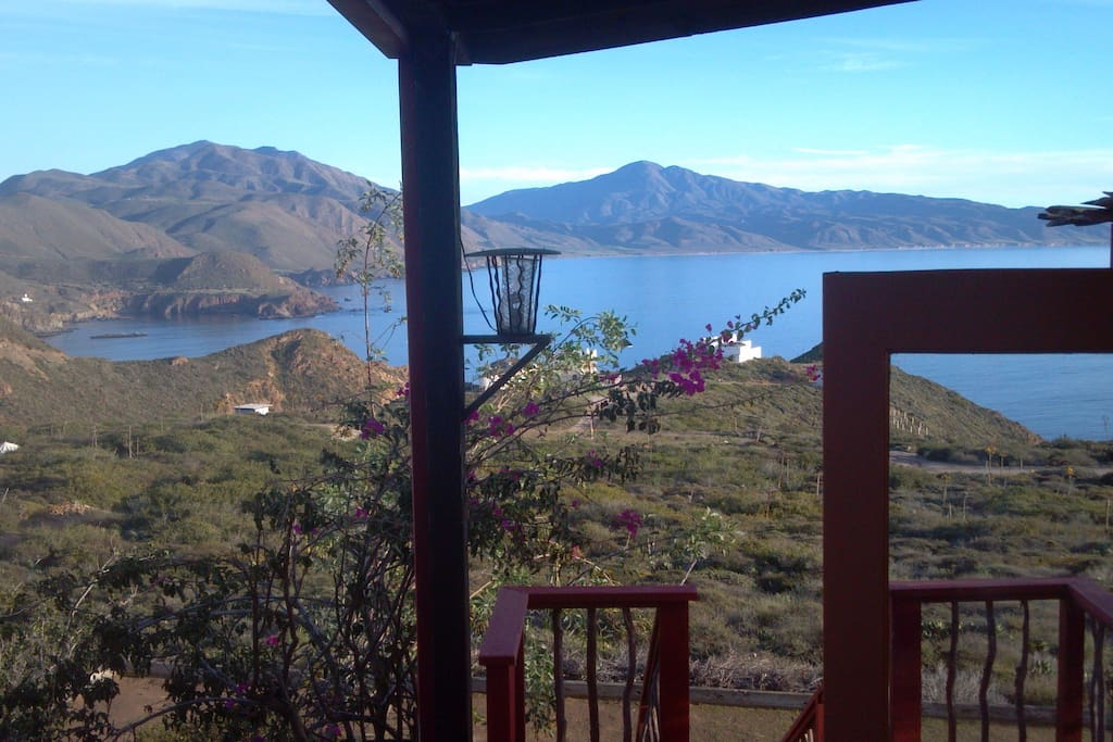 Patio outsite your door.  Join us for Breakfast or start your hike from here.