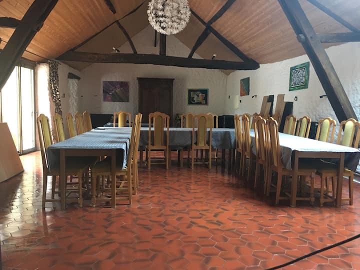 Gîtes pour 20 personnes au cœur des vignes