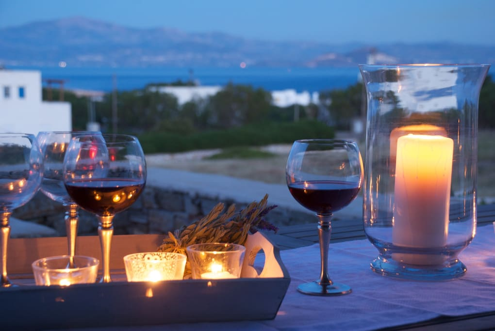 Enjoying the view of Naxos