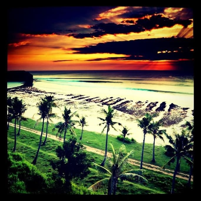 Beautiful Balangan Beach sunsets ... worth the visit (and viewed from the villa). Dreamy .... x