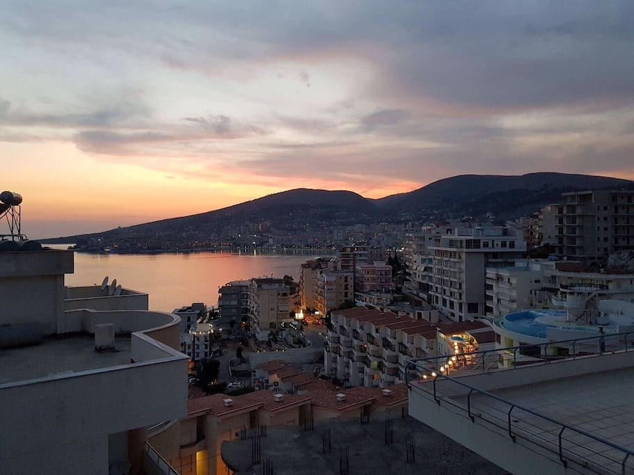 Sunset - Saranda bay