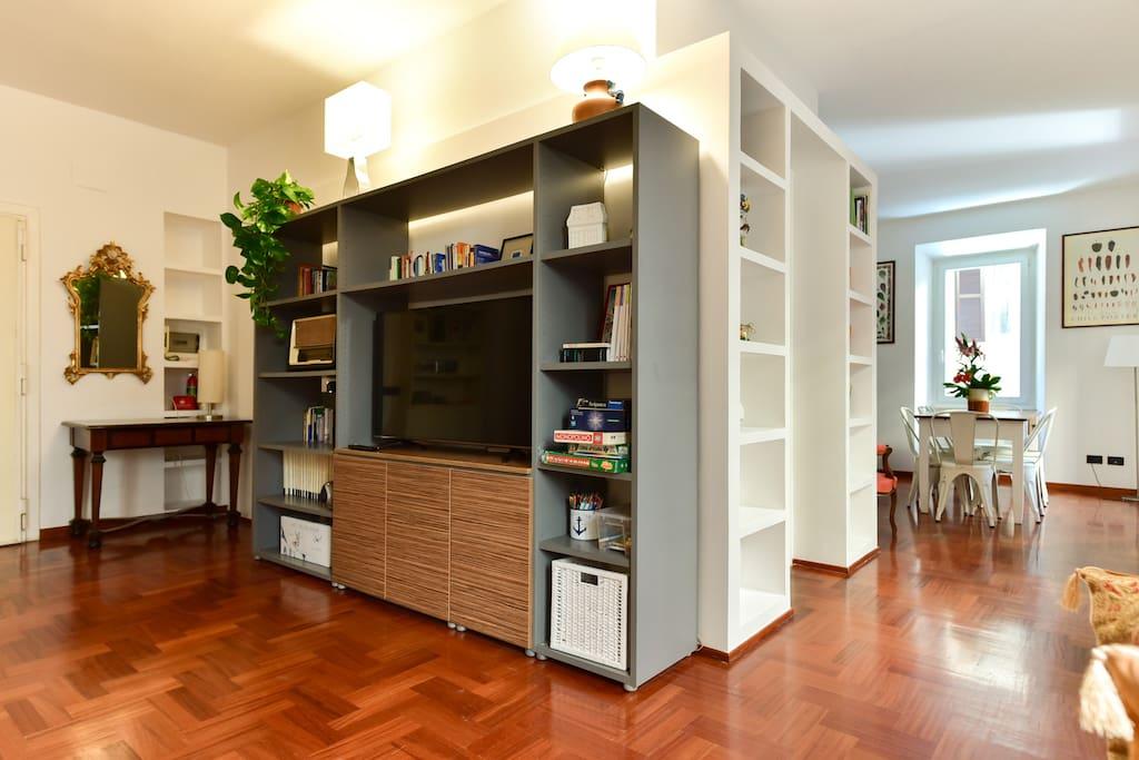 Living Area + Dining Area