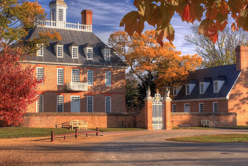 Colonial Williamsburg is close by, and is a beautiful place to visit in the fall season!