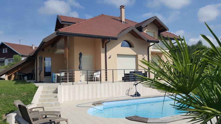 Maison contemporaine avec piscine proche d'Annecy