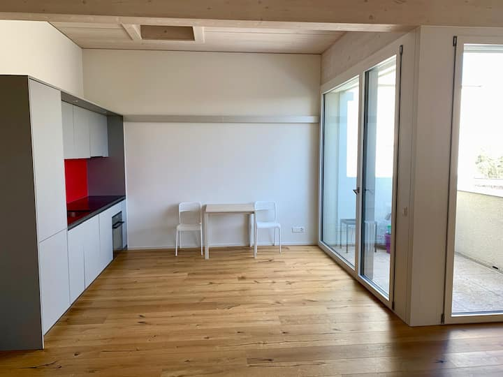Modern self check-in studio with balcony