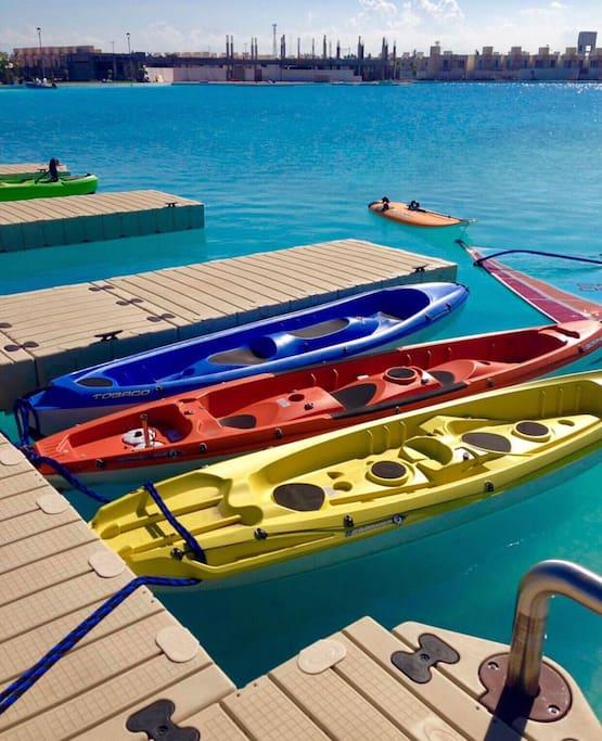 Renta de Kayaks/paddle/lancha de pedales
