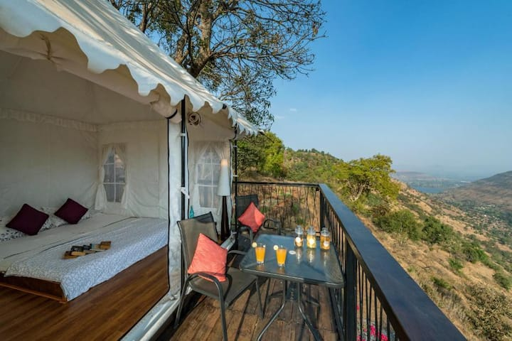 Hill-top Tent Overlooking Valley in Panchgani