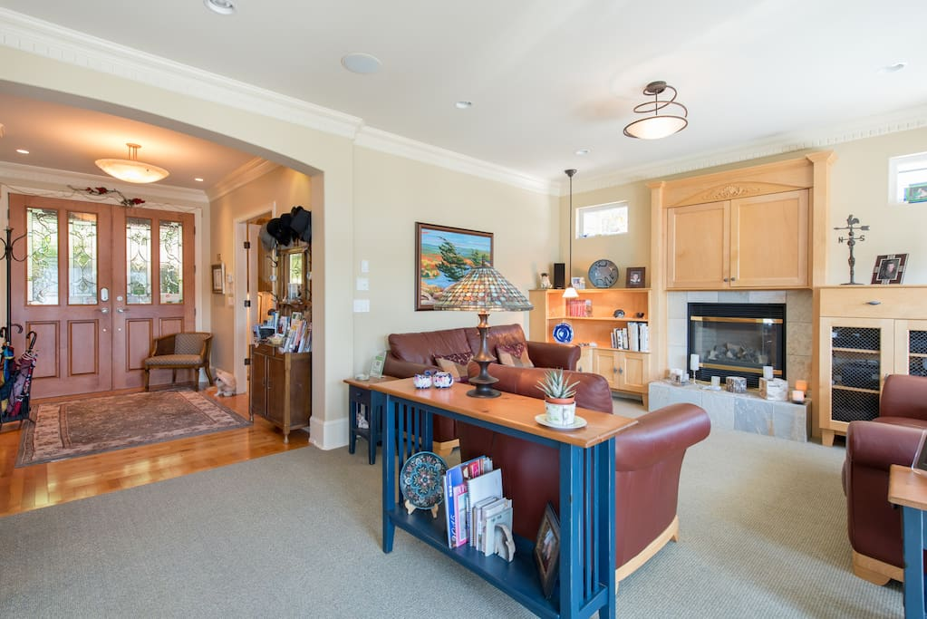 Warm entrance and family room