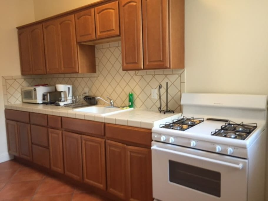 Simple kitchen with gas stove