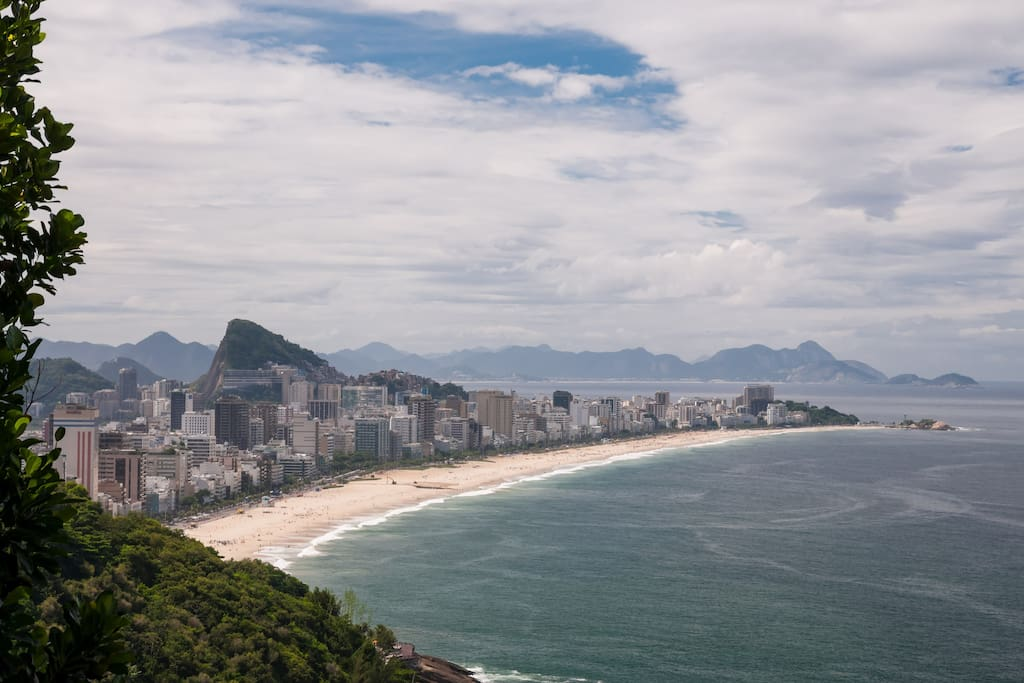 View of Ipanema beach from the terrace.