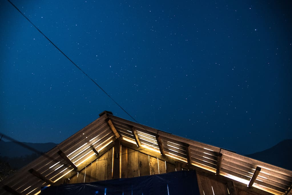 Starlit Mary homestay on a clear night