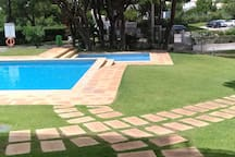 Front pool area