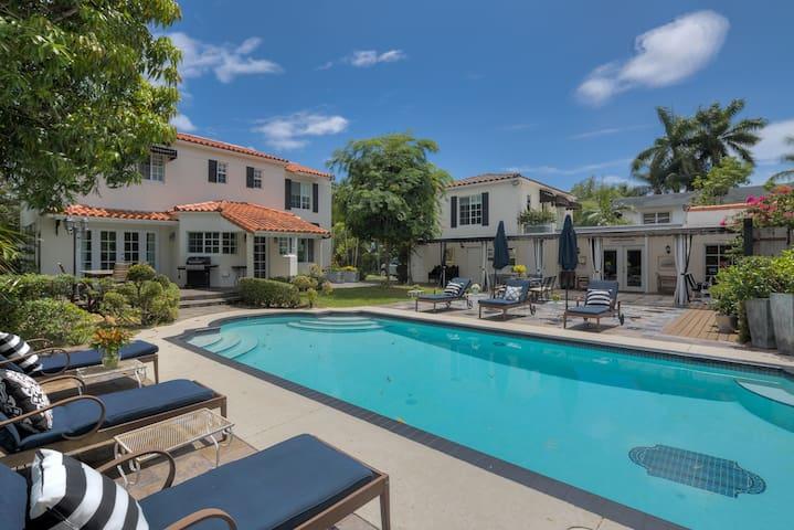 Historic Miami estate with pool