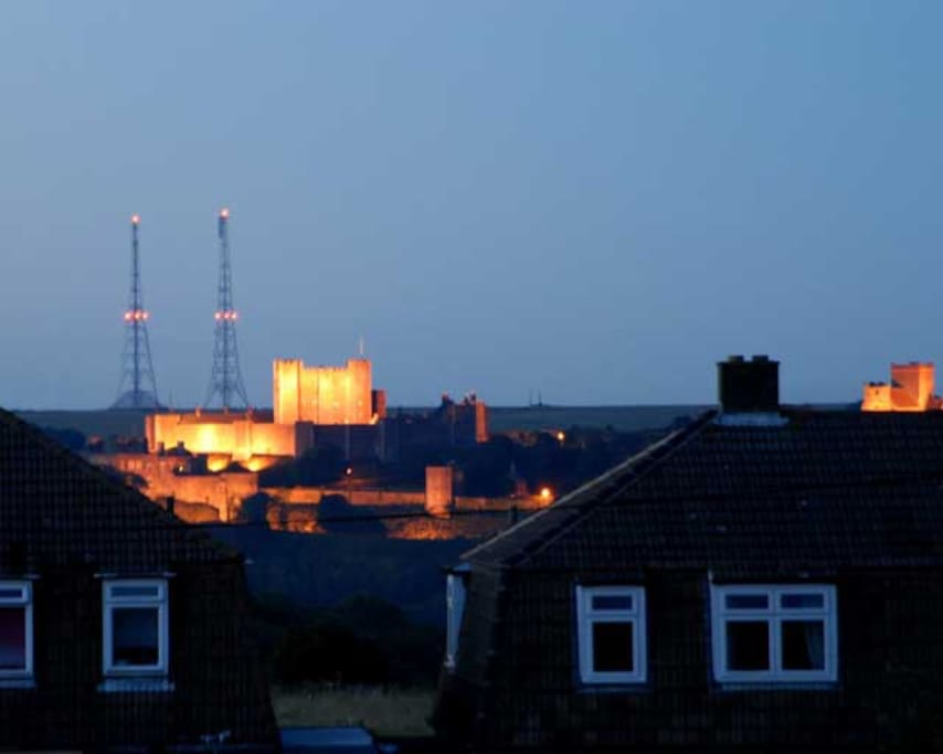 Night view of Dover castle