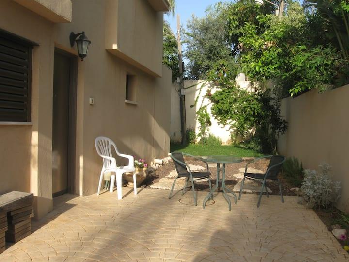 Garden level villa apartment
