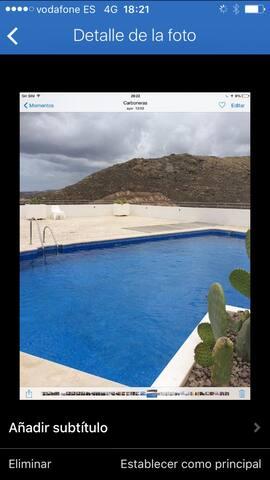Apartamento con garaje, terraza y piscina - Carboneras - Departamento