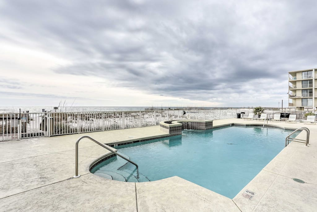 Look forward to having direct access to the beach, along with this community pool!
